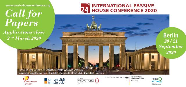 24-а МІЖНАРОДНА КОНФЕРЕНЦІЯ ПАСИВНОГО БУДИНКУ 2020 | 20 - 21 вересня 2020 | Берлін | Німеччина | #24intPHC